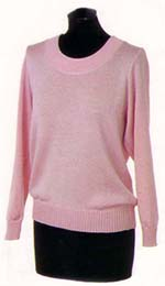 Design 02, Round Neck Stocking Stitch Jumper in CARINO