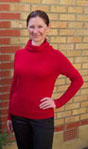Design 55, in ROMA double with sideways knitted collar